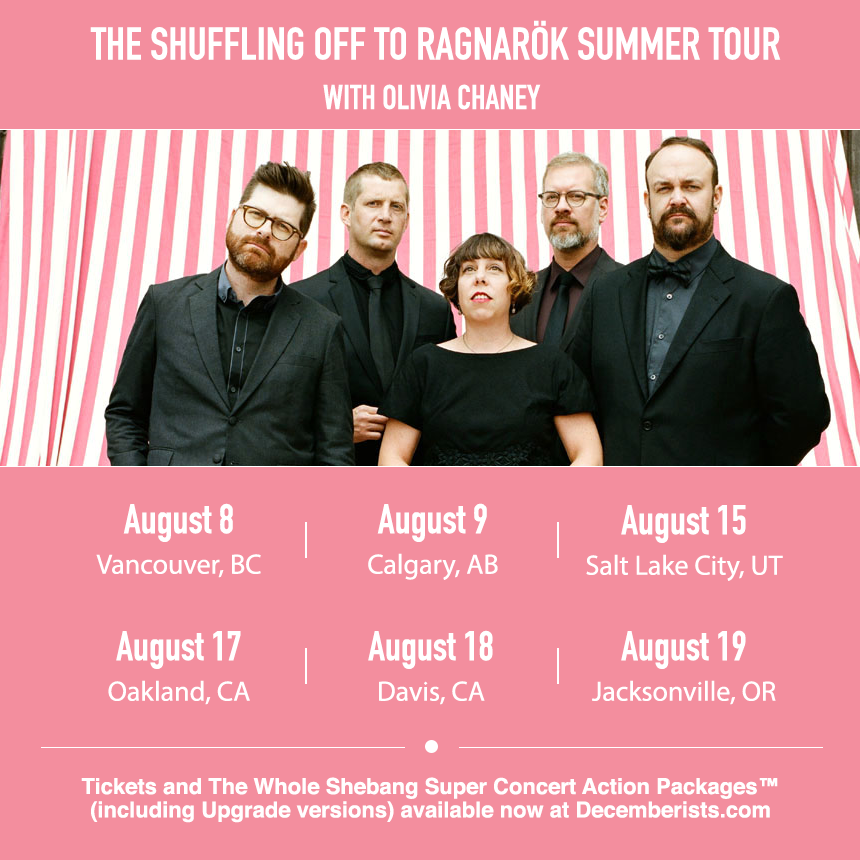 decemberists summer tour graphic
